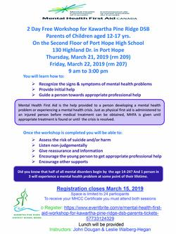Mental Health First Aid for Parents - Free Course